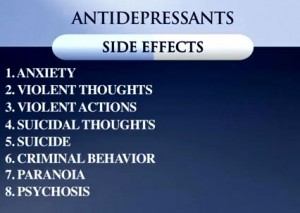 Anti depression pills side effects