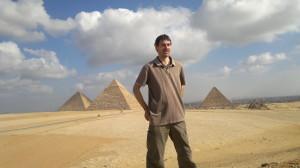 Gary and 3 pyramids
